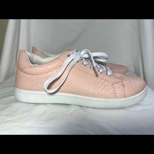 Simple pink sneakers